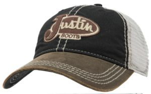Justin Boots® Brown   Black with Cream Mesh Back Logo Cap  a399357d7a68
