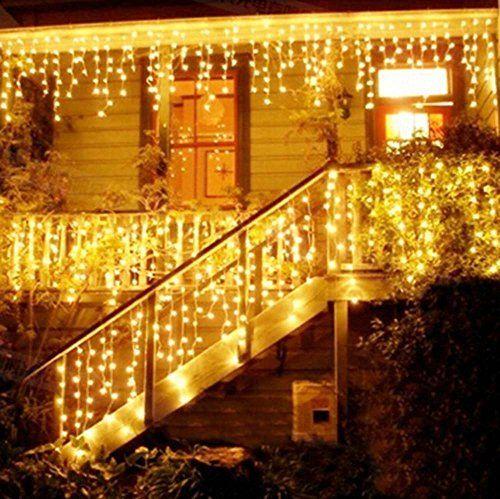 Netto Weihnachtsbeleuchtung.216 Led 5m Eisregeneiszapfen Lichter Led Lichtervorhang Lichter