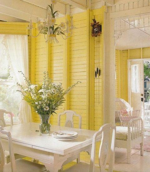 Banana Mood: 27 Yellow Dipped Room Designs - DigsDigs | Shabby Chic ...