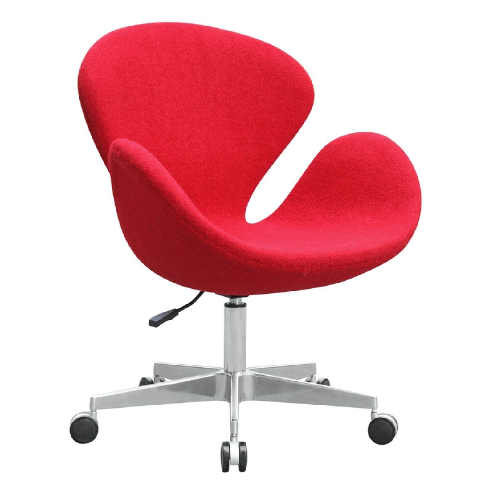 fine mod imports swan chair fabric with casters in 2019 products rh pinterest com