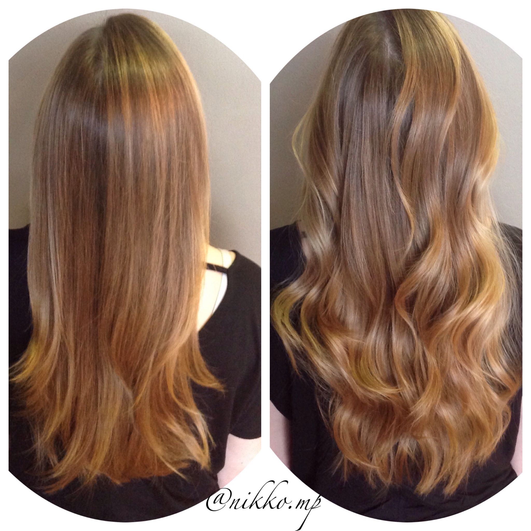 Behind The Chair Ombre Straight Vs Curled Balayage Highlights Ombré Behind The