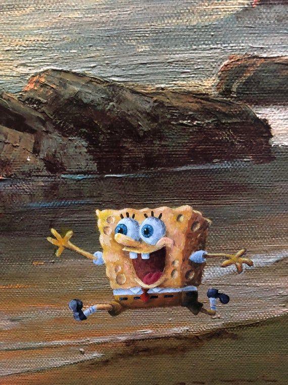Spongebob Parody Painting Print