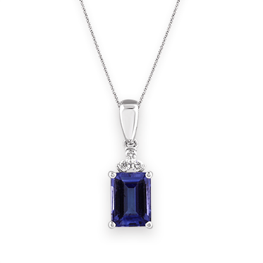 Ecali presents an emerald cut tanzanite pendant set with round ecali presents an emerald cut tanzanite pendant set with round brilliant cut diamonds in white gold mozeypictures Choice Image