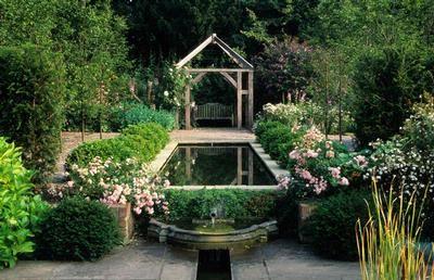 Formal Rectangular Pond Landscaping Water Feature Charming Garden Gorgeous Gardens