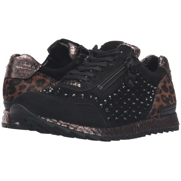Kennel Schmenger Mixed Media Trainer Black Leopard Women S Shoes 232 Liked On Polyvore Featuring Shoes Sneakers Multi Lace Up Shoes Black Lace Up S