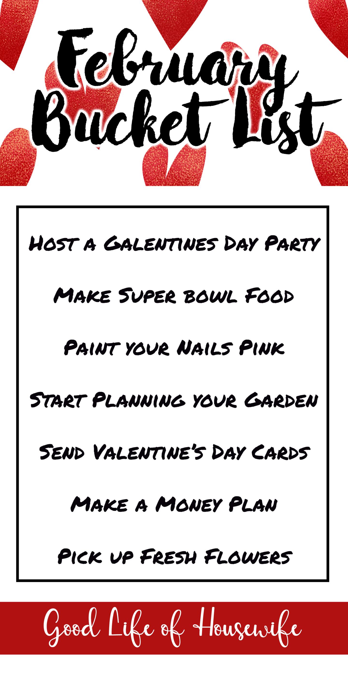 February Bucket List February Februarybucketlist