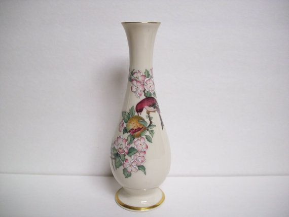 Vintage Lenox Serenade Bird Pomegranate By Vintagewaytreasures
