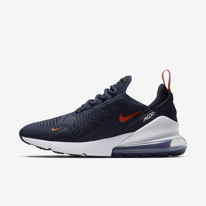 5a596ade85d192 Nike Sportswear 270 Air Max 180, Nike Sportswear, Blue Shoes, All Black  Sneakers