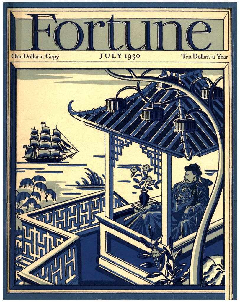 Fortune magazine, July 1930, Volume 1, Number 6.