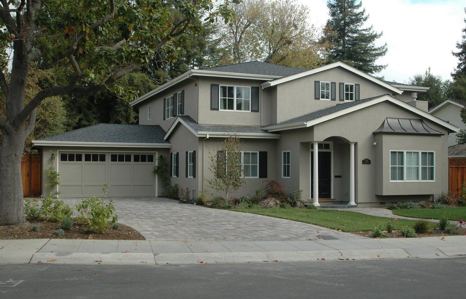 Kelly Moore exterior color scheme paint colors: Stonegate, Frost ...