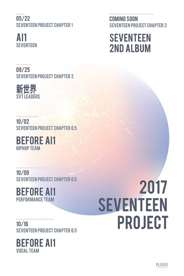 2017 SEVENTEEN PROJECT TIMETABLE #SEVENTEEN #Al1 #新世界 - project timetable