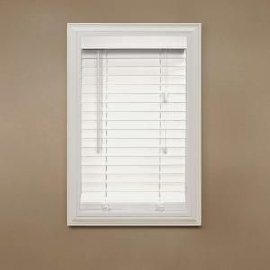 Home Decorators Collection White 2 In Faux Wood Blind 10 In W X 64 In L Actual Size 9 5 In W X 64 In L 10793478080847 The Home Depot