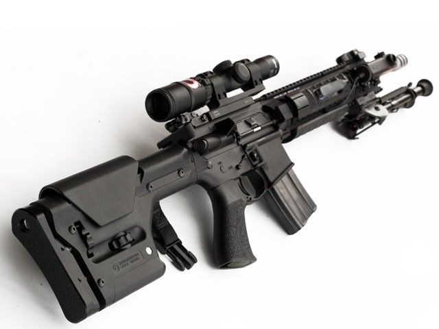 Maybe this magpul? Magpul PRS Stock - AR15/M16, MP:PRS:MAG307, by Magpul Industries, .