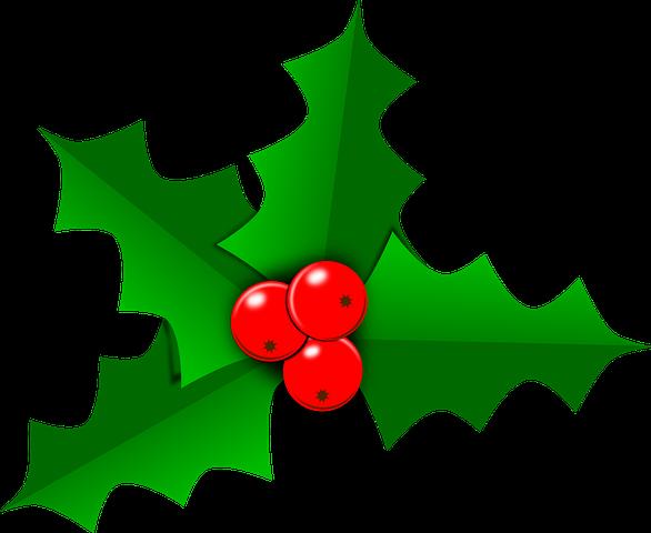 Holly Christmas Leaf Green Free Clip Art Christmas Leaves Seasonal Image