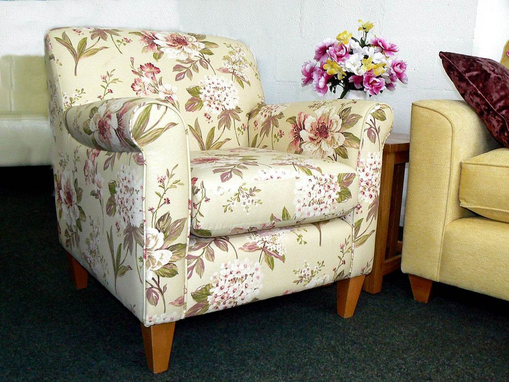 Super Pretty Peony Fabric Accent Chair (RRP £599) | FREE UK ...