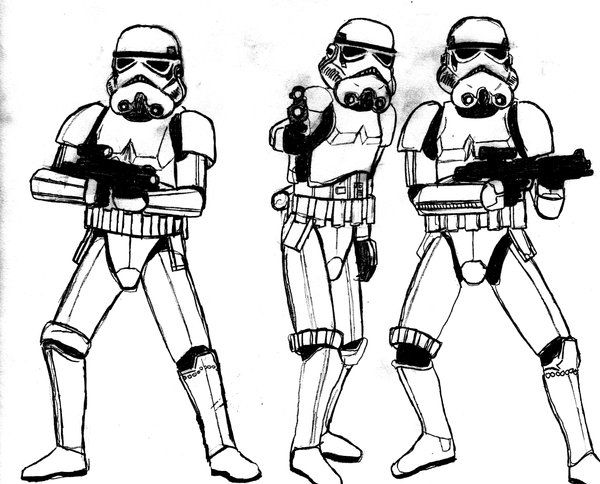 stormtrooper drawing - Google Search | Nerf | Pinterest