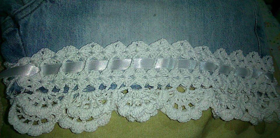 0e4128275b27 Shorts Jeans com barrado em crochê – Feitos a Mão. Sabe aquele shorts que  você