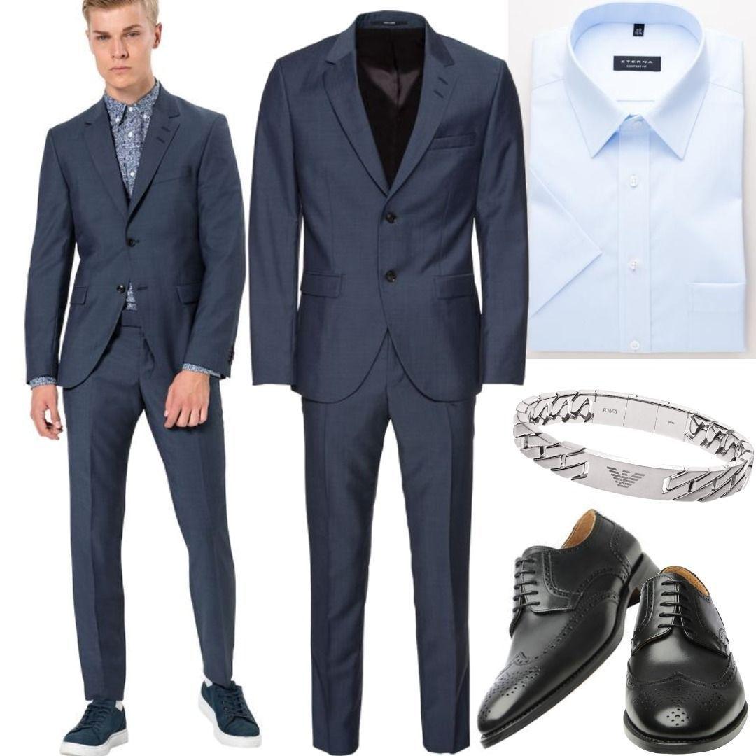 Tiger Of Sweden Anzug S Jamonte Blau Men Outfit Fur Herren Zum Nachshoppen Auf Stylaholic Herrenmode Manner Style Loo Outfit Stylische Manner Manner Outfit