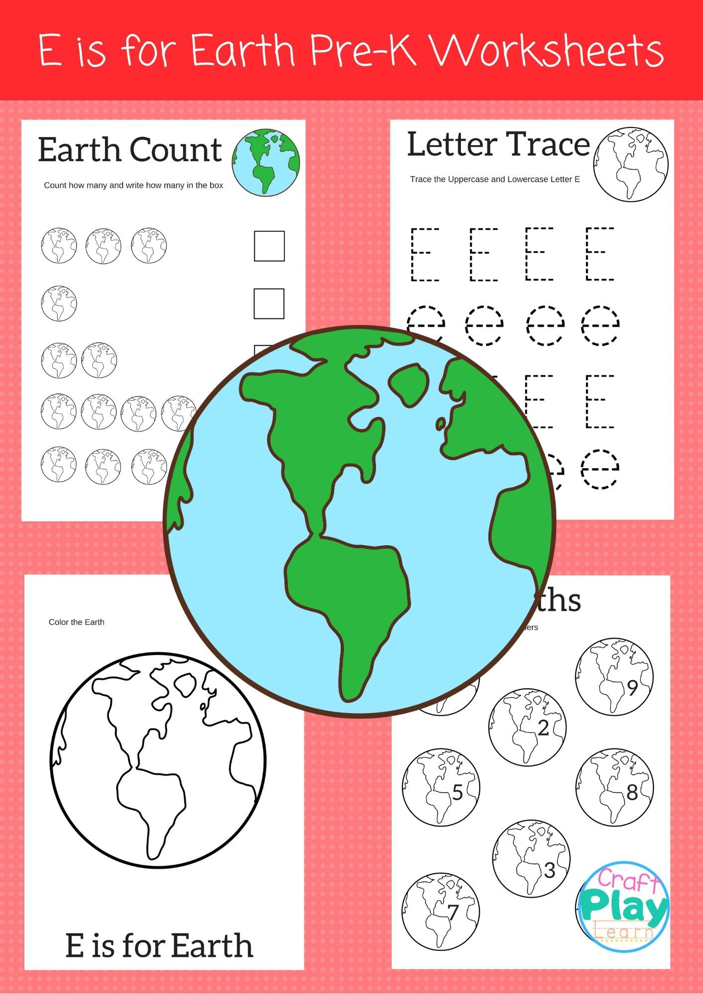Letter E Worksheets For Preschool Kids In