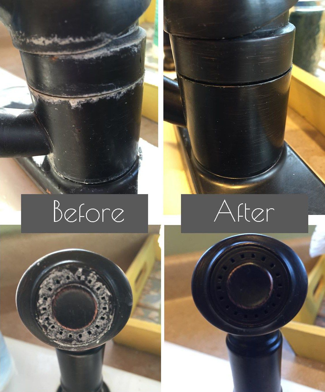 Cleaning tip tuesday removing hard water stains papel for Como quitar la cal de los grifos