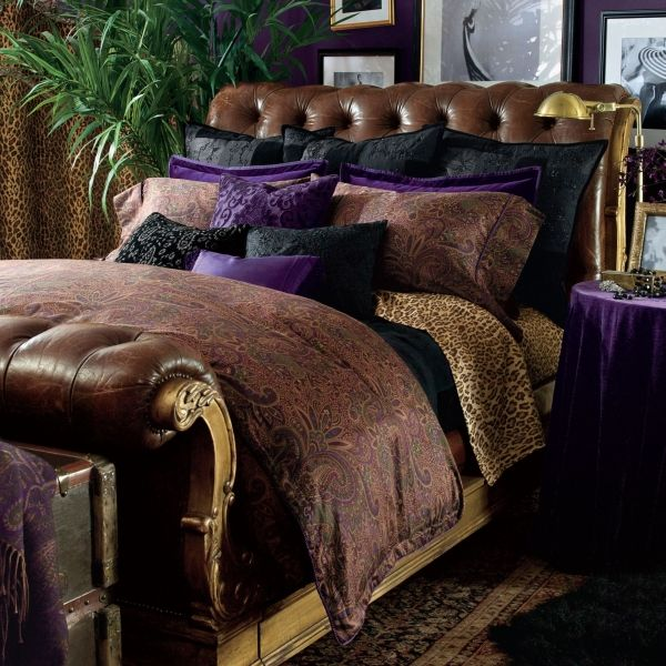 want this ralph lauren bohemian chic leopard bedding. luxe! tacky