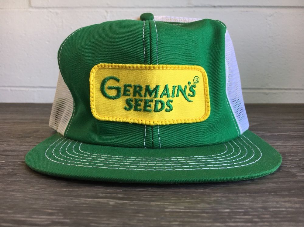 91ff7407584 Snapback Hat K Products MESH Vtg 70s Germain s Seeds Patch Trucker Work USA   KProduct  Trucker