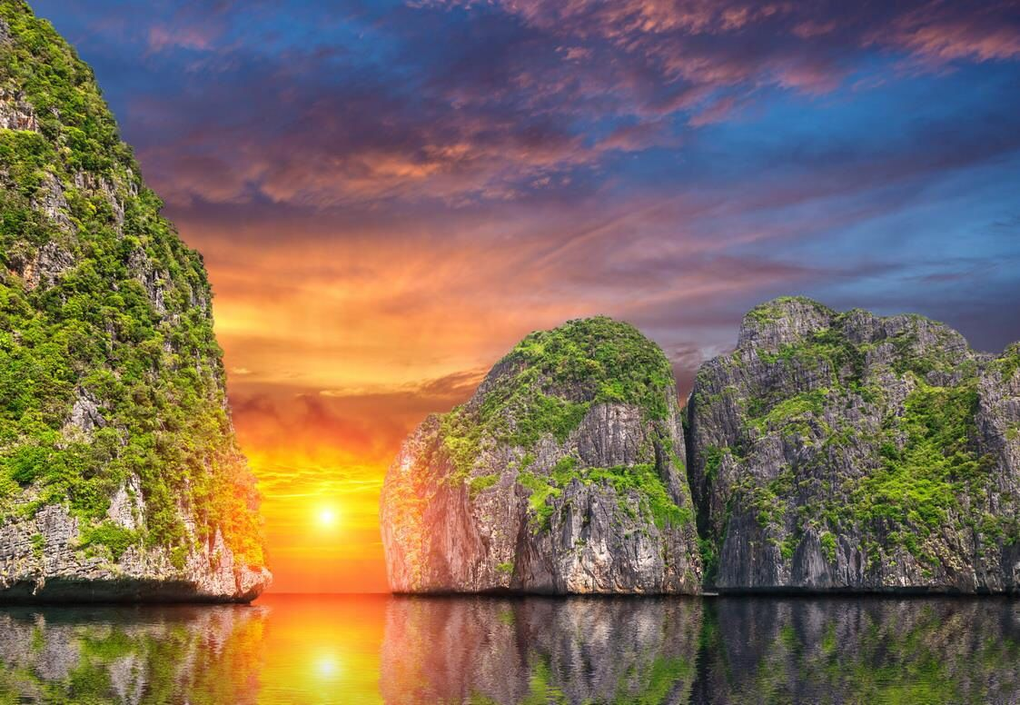 Sunset at Phi Phi Island, Thailand