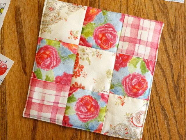 free quilted potholder patterns | Quilted Potholders Watercolor ... : quilt patterns for potholders - Adamdwight.com