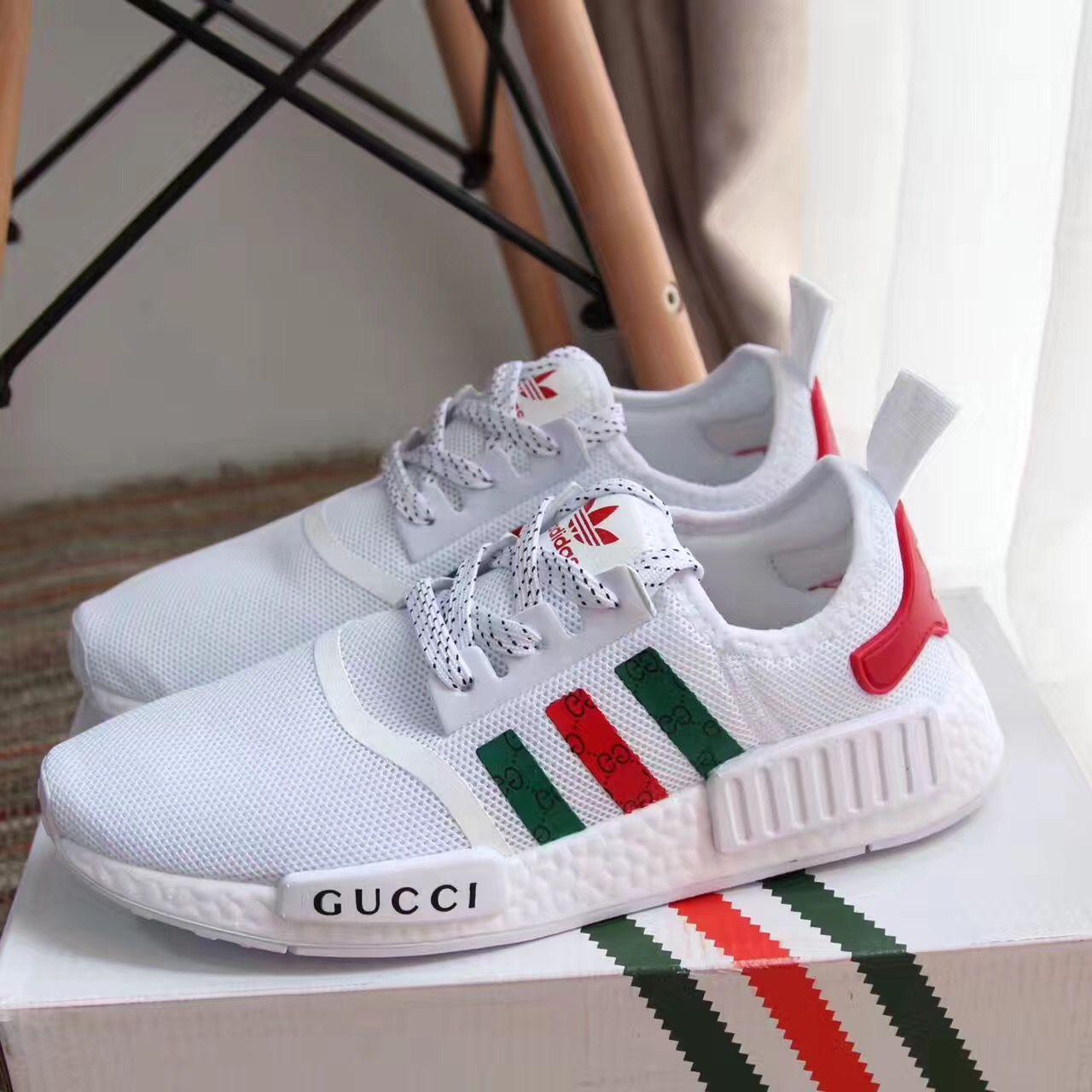 Adidas Gucci Woman Man Unisex Sport Sneakers Shoes Sneakers Fashion Gucci Outfits Sneakers Men Fashion