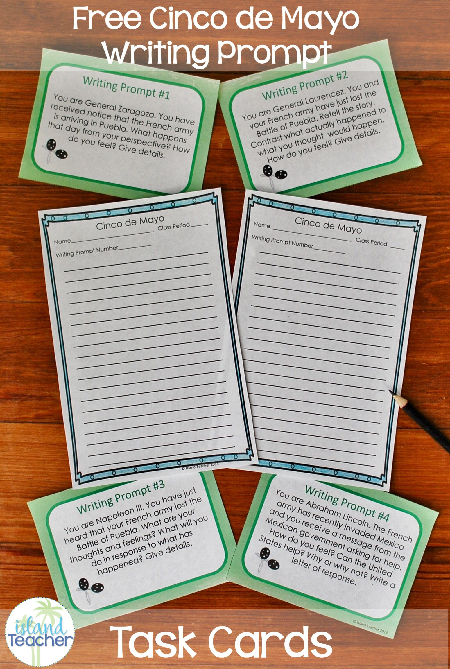 Cinco De Mayo Free Writing Prompt Task Cards With Images How
