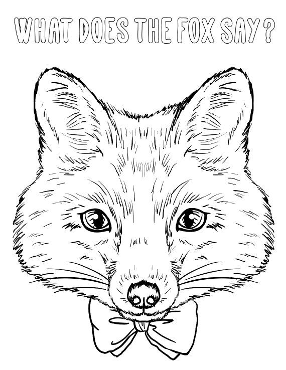 What Does The Fox Say Coloring Page for Adults PDF   by ToColor - copy coloring page of a tiger shark