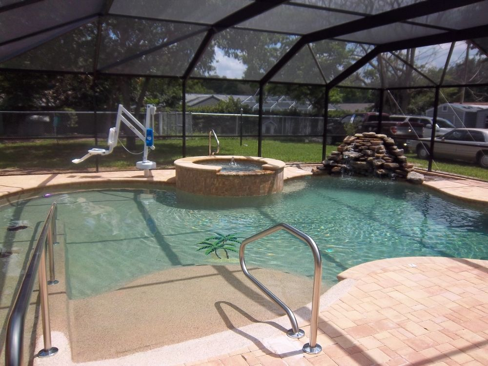 Wheelchair Accessible Pool by Tropical Pools and PaversUniversal ...