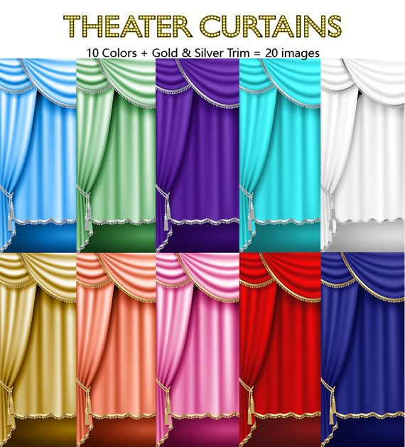 12 Curtains Drapes Gold Silver Trim Royal Blue Red Purple