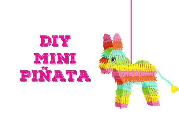 El Dia De Los Muertos Diy Mini Pinatas Birthday Ideas Mini