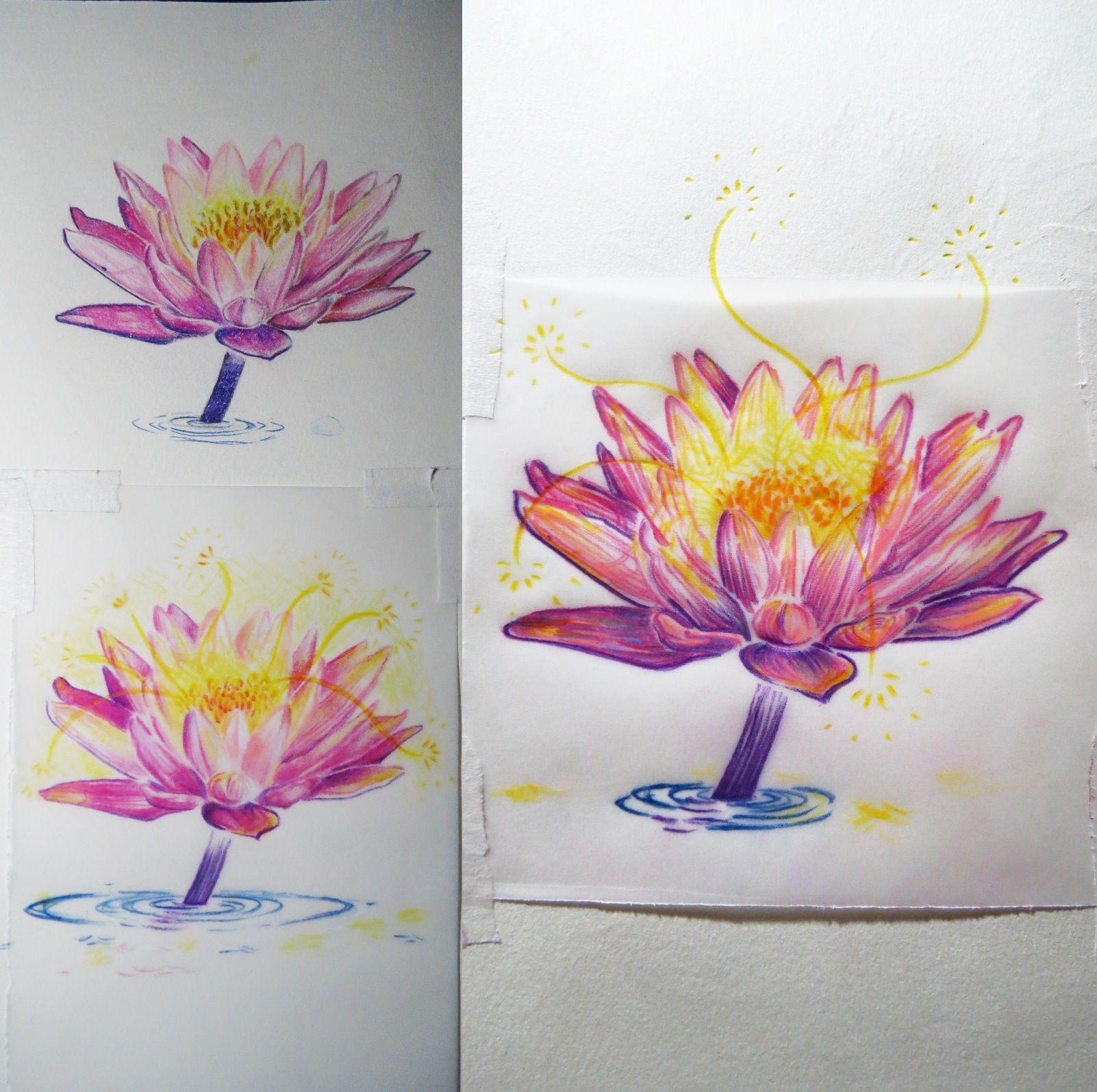 Egyptian lotus tattoo studies artsy fartsy pinterest tattoos egyptian lotus tattoo studies izmirmasajfo