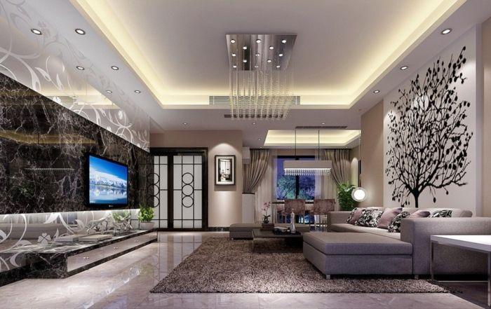 indirekte beleuchtung ideen wie sie dem raum licht und charme verleihen wohnzimmer. Black Bedroom Furniture Sets. Home Design Ideas
