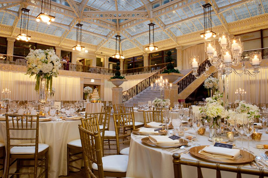 Gerber and Scarpelli Photography. Liven It Up Events. Vale of Enna flowers. Rookery. Lilac. Hydrangea. Rose. Stock. Spray Rose. Hanging Amaranthus.  White and Green. Candelabra. Centerpiece. Chicago Wedding.
