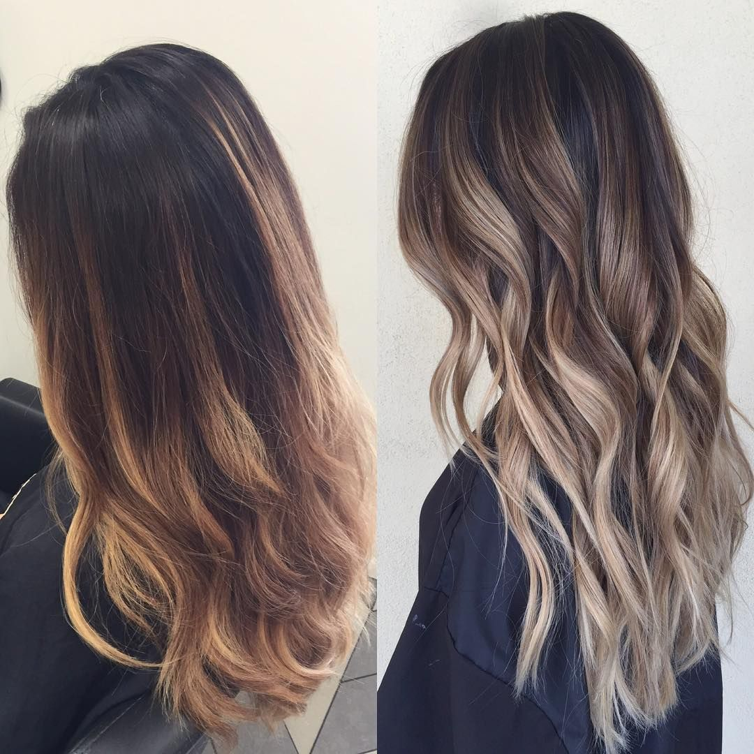 Brunette Ombre Vs Balayage No More Brass Ombre … Hair Styles Hair Color Ombre Hair
