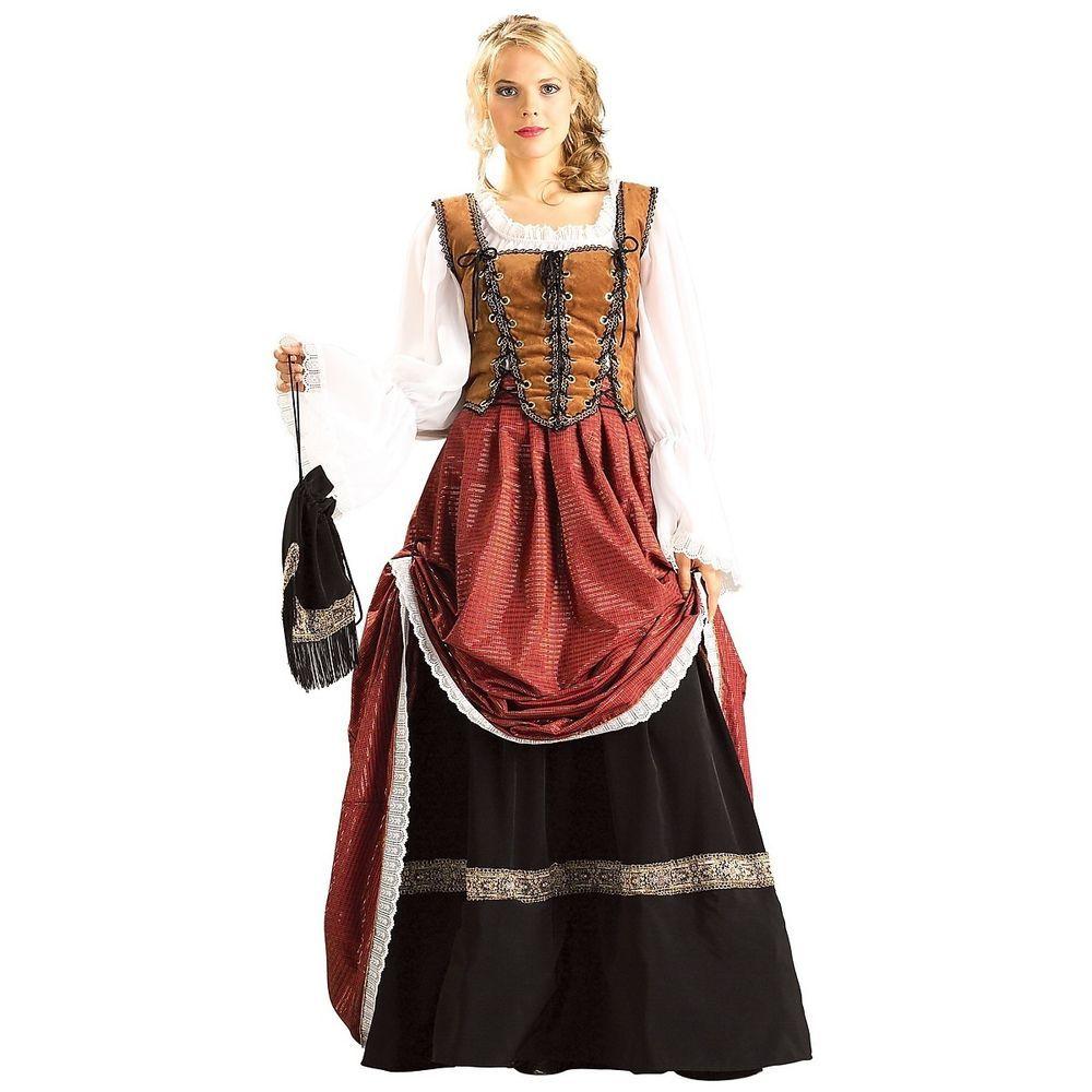 7e09bb1c4e230 Deluxe Scottish Brigadoon Costume Womens Lady Maiden Medieval ...