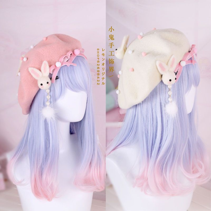 Hair Pin Lolita Hair Accessories Moe Sweet Japan Kawaii Bow Cute Beret Kawaii #1