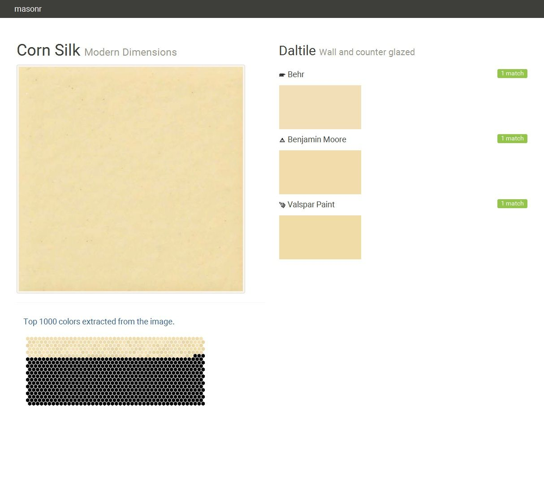 Corn Silk. Modern Dimensions. Wall and counter glazed. Daltile. Behr ...