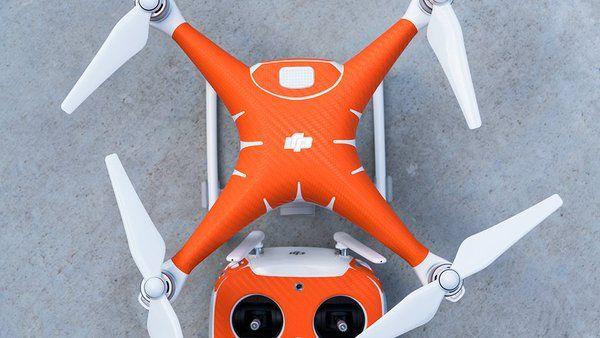 Orange Carbon On A Phantom 4 Make That Drone Stick Out