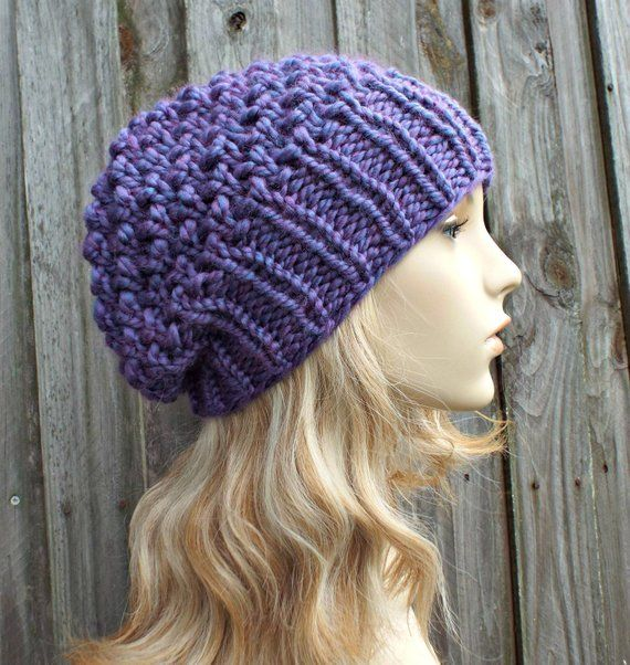 Instant Download Chunky Beanie Knitting Pattern - Knit Hat Pattern Womens  Hat Pattern - Super Bulky fc235372a