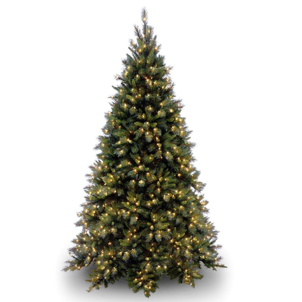 Artificial Prelit Christmas Tree 9 Ft Lights Decoration Holiday Home 850 Clear