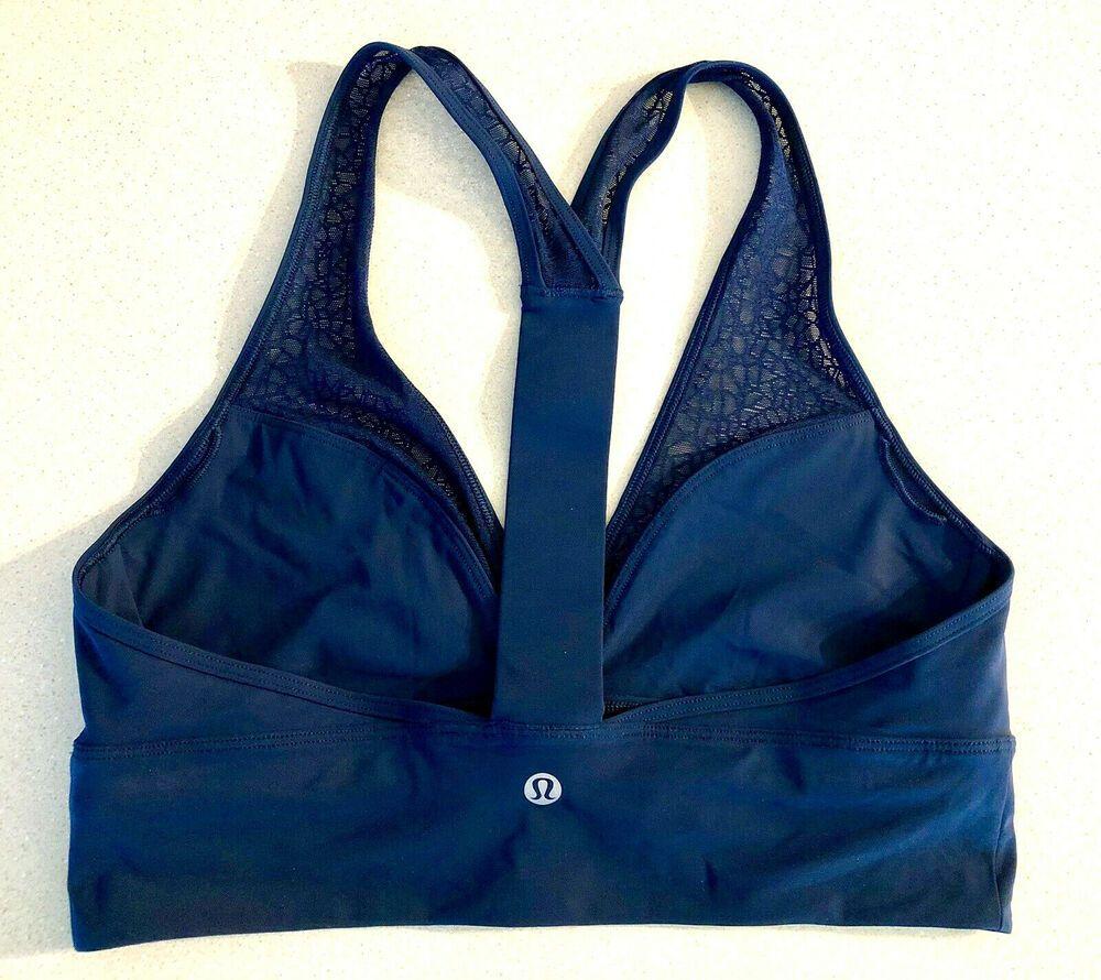 Lululemon Sports Bra Size 8 Teal Blue Racerback Mesh