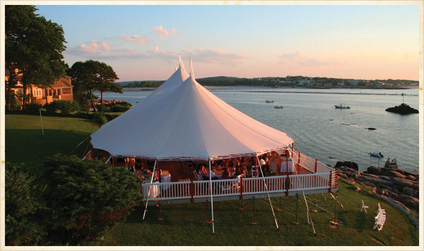 2462df443f9 Leveled floor on a hilly wedding site. Tent by Sperry Tents NJ