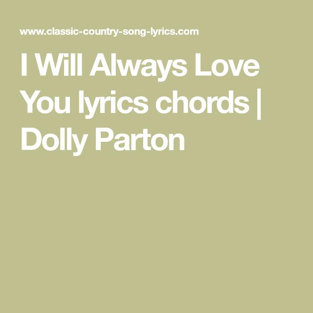 I Will Always Love You lyrics chords   Dolly Parton   Ukulele tabs ...