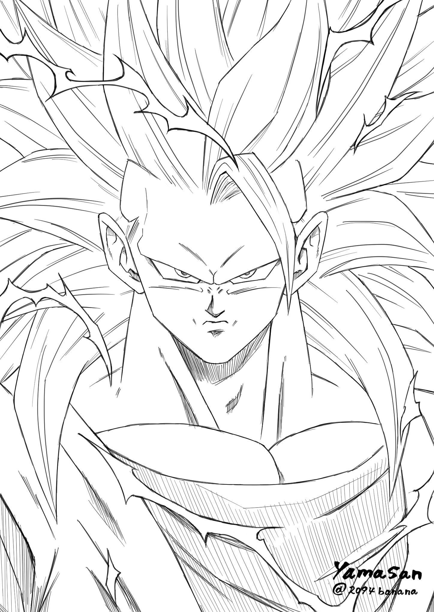 Pin By Lady Son Goku On Goku Super Saiyan 3 Goku Drawing