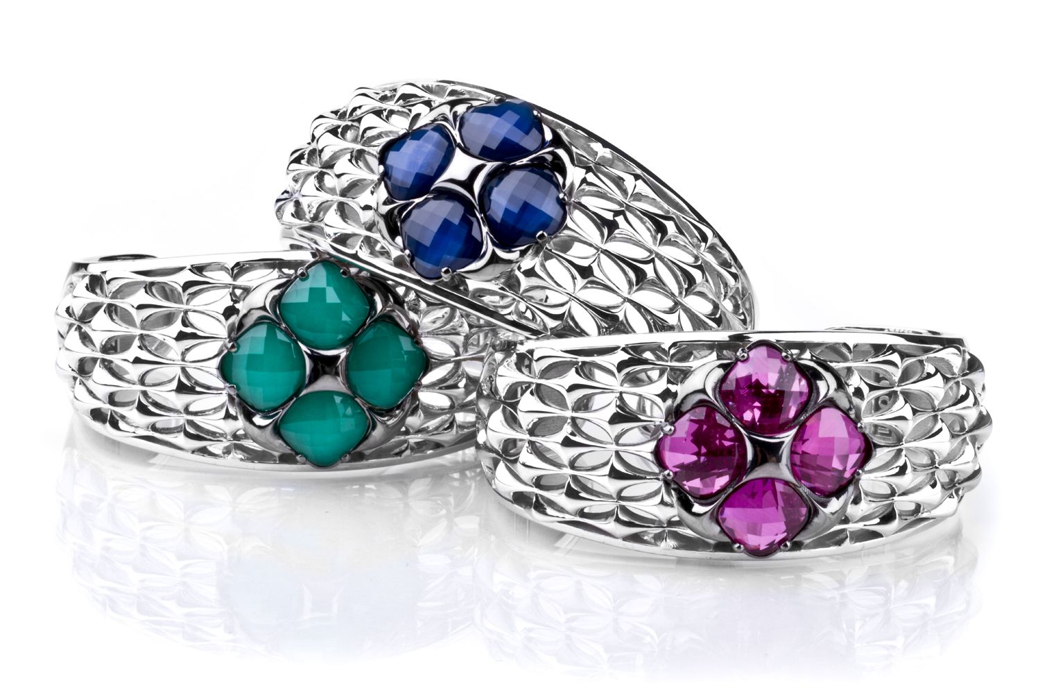 """#Tacori #FallBling Colorful bracelets from the new Tacori """"City Lights"""" collection! (left to right) Style No. SB16135, Style No. SB16127, and Style No. SB16134- Tacori Fall Bling"""