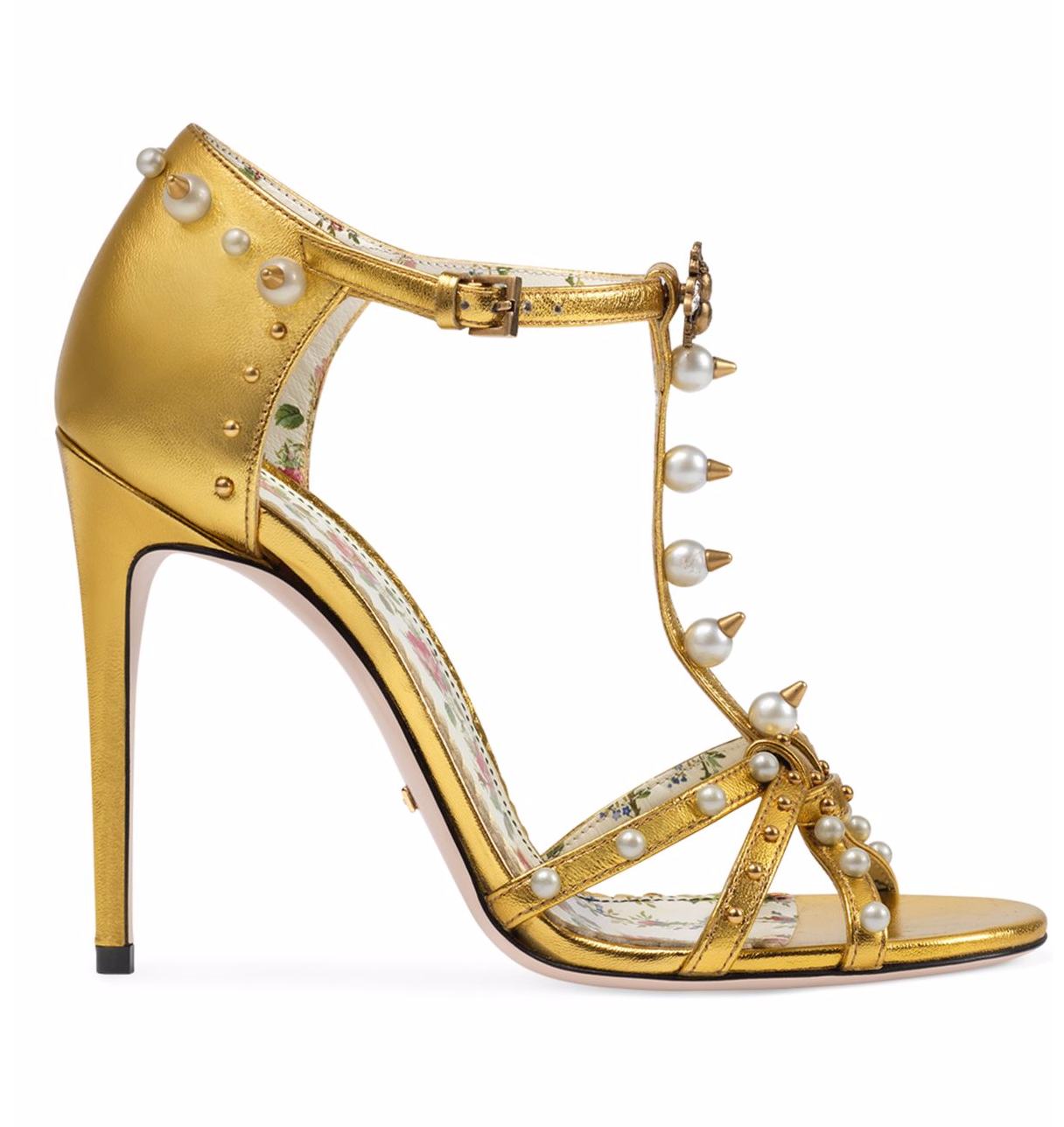 Gucci Regina Pearl and Spike Sandal cRlBdsH
